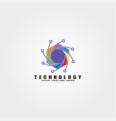 technology logo templates logos for business vector image