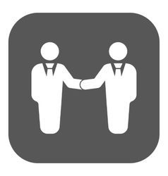 The handshake icon Partnership and negotiation vector image