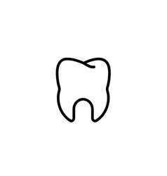 tooth dental stomatologist tooth clinic icon in vector image