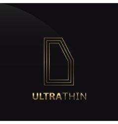 Ultrathin D Letter vector