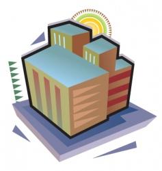 vector city building vector image