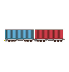 Wagon loaded icon vector