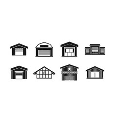 warehouse icon set simple style vector image