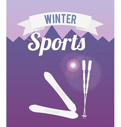 winter sports design vector image