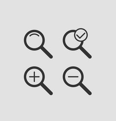 zoom icon set zooming icons vector image