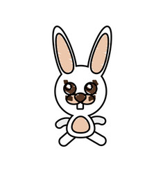 drawing rabbit animal character vector image vector image