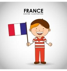 france kid vector image