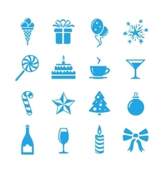 Holidays and event icons vector image