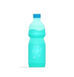Water bottle plastic isolated vector image vector image