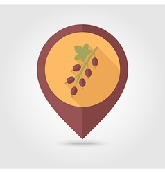 Currant flat pin map icon Berry fruit vector image vector image