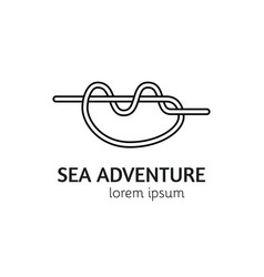modern line style sea knot logotype template vector image vector image