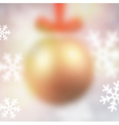 Defocused golden christmas ball vector image