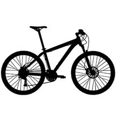 Hardtail mountain bike vector image vector image
