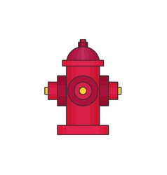 hydrant flat icon vector image