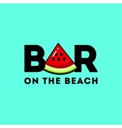 Logo with the image of a piece of watermelon vector image vector image