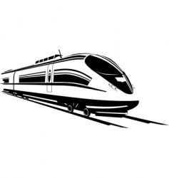 fast train vector image vector image