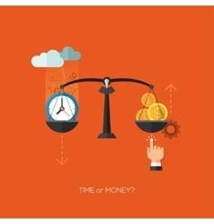 Flat seo business mobile concept design vector image