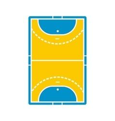 Handball field icon vector