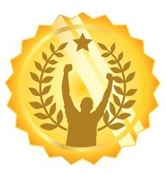 medal winner vector image