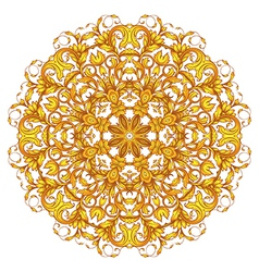 ornamental round set vector image vector image