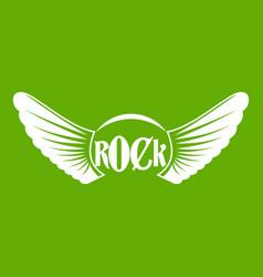 rock icon green vector image vector image