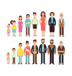 stages of growth people children teenager adult vector image vector image