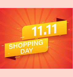 1111 advertising sale banner template global vector image
