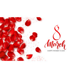 8 march - happy women s day festive card vector image
