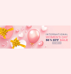 8 march happy women s day sale banner beautiful vector image