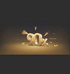 90 percent off discount sale vector image