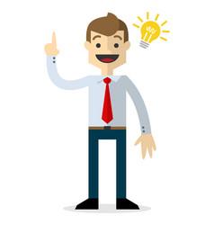 A businessman with an idea vector