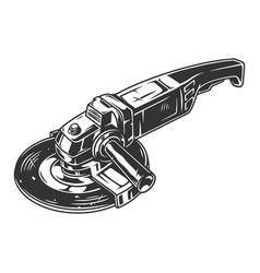 Angle grinder machine template vector