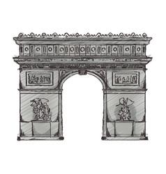 arch of triumph paris vector image vector image