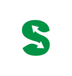 Arrow symbol for letter s vector