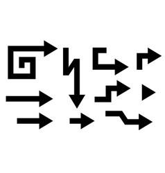 arrows black flat signs vector image