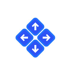 Arrows up down left and right vector