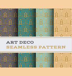 Art deco seamless pattern 20 vector