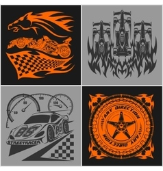 Auto racing emblems - Sport car logo vector