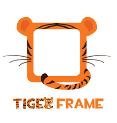 Avatar frame tiger square animal template vector