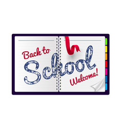 back to school on a notepad vector image