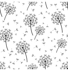 Background seamless pattern with dandelions vector image
