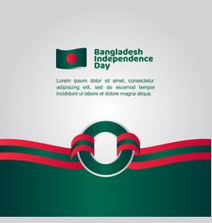 Bangladesh independence day flag template design vector