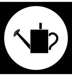 Black isolated watering can symbol simple icon vector