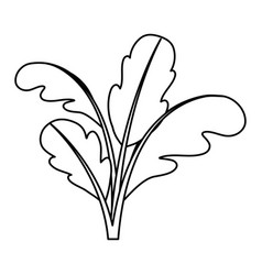 Black silhouette of beet plant vector