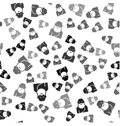 Black socrates icon isolated seamless pattern vector