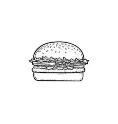 Burger hand drawn sketch icon vector