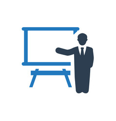 Business presentation icon vector