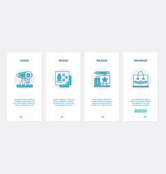 Business startup line branding technology ux ui vector