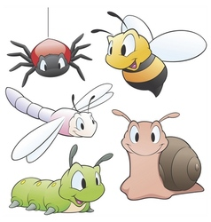 Cartoon Garden Animals vector image