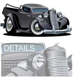Cartoon Retro Pickup vector image
